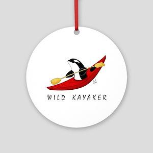 Wild Kayaker Ornament (Round)