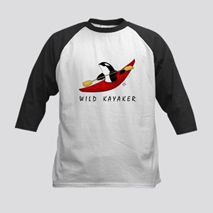 Wild Kayaker Kids Baseball Jersey