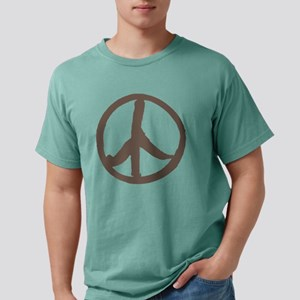 brown peace sign Mens Comfort Colors Shirt