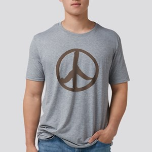 brown peace sign Mens Tri-blend T-Shirt