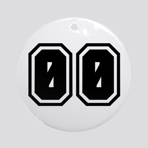SPORTS JERSEY 00 Ornament (Round)