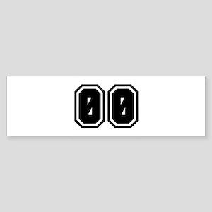 SPORTS JERSEY 00 Bumper Sticker