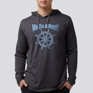 We on a boat distressed Mens Hooded Shirt