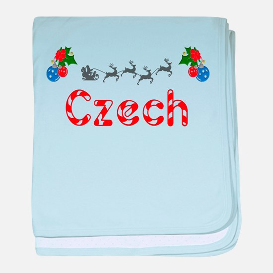 Czech, Christmas baby blanket