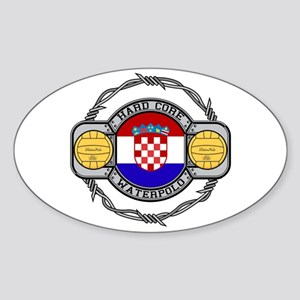 Croatia Water Polo Oval Sticker
