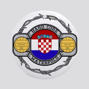 Croatia Water Polo Ornament (Round)