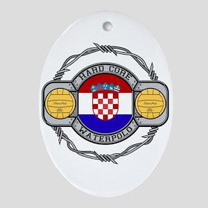 Croatia Water Polo Oval Ornament