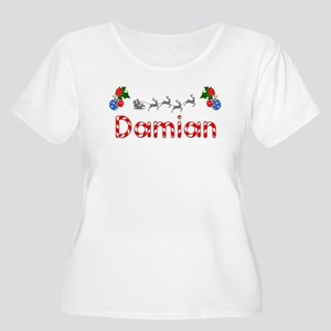 Damian, Christmas Women's Plus Size Scoop Neck T-S