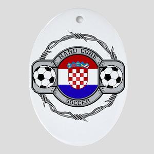 Croatia Soccer Oval Ornament