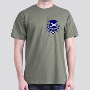 Scottish Navy Blue Thistle Dark T-Shirt