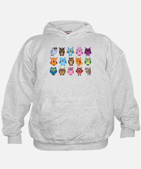Colorful cute owls Hoody