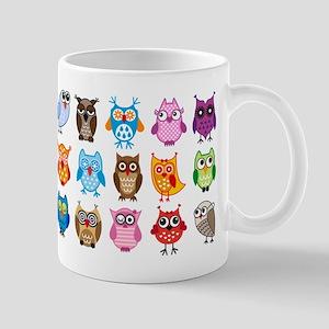 Colorful cute owls Mug