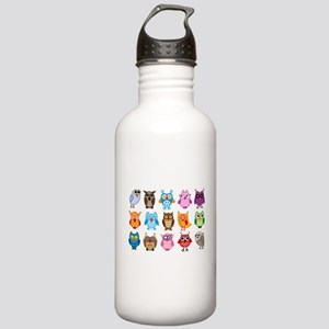 Colorful cute owls Stainless Water Bottle 1.0L