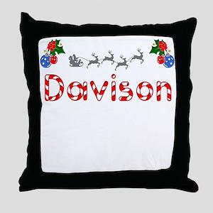 Davison, Christmas Throw Pillow