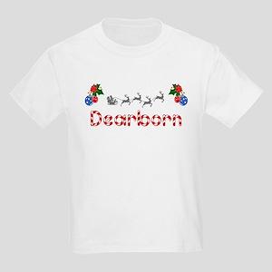 Dearborn, Christmas Kids Light T-Shirt