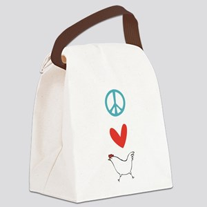 sigg-peacelovechickens Canvas Lunch Bag