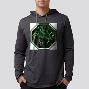 horse-noText Mens Hooded Shirt