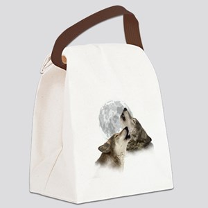 2-Midnight Howling Canvas Lunch Bag