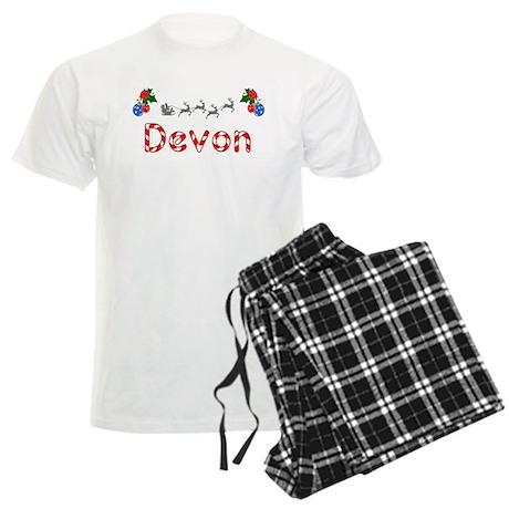 Devon, Christmas Men's Light Pajamas