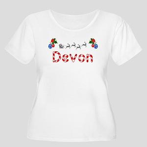 Devon, Christmas Women's Plus Size Scoop Neck T-Sh