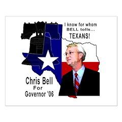 Chris Bell, TX GOV Posters