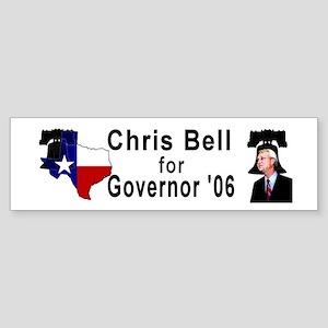 ChrisBell, TX GOV Bumper Sticker