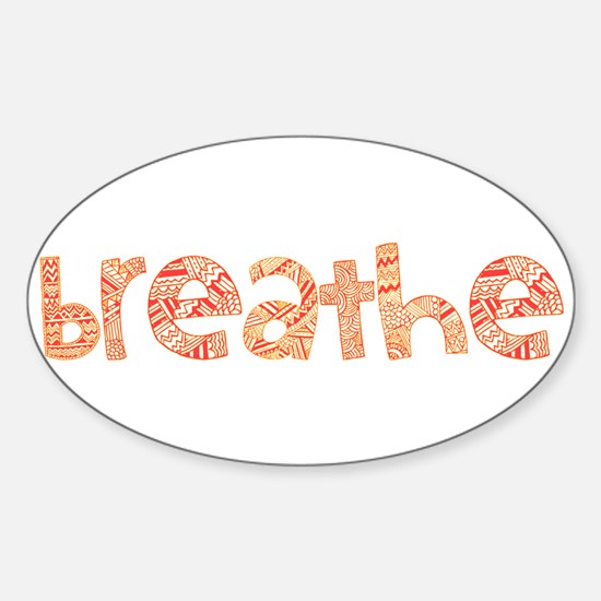 Tribal Breathe (Red or Blue) Sticker (Oval)