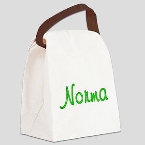 Norma Glitter Gel Canvas Lunch Bag