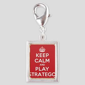 Keep Calm Play Stratego Silver Portrait Charm