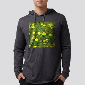TILE TEMPLATE-COREOPSIS Mens Hooded Shirt