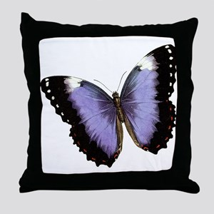 Satin Butterfly Throw Pillow