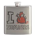 IheartZombiesWhiteFill Flask