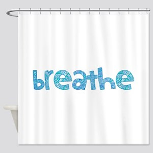 Tribal Breathe (Red or Blue) Shower Curtain