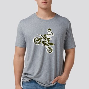 Nick2 white mirrored trans. Mens Tri-blend T-Shirt