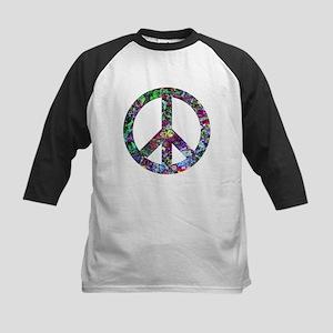 Colorful Peace Sign Kids Baseball Jersey