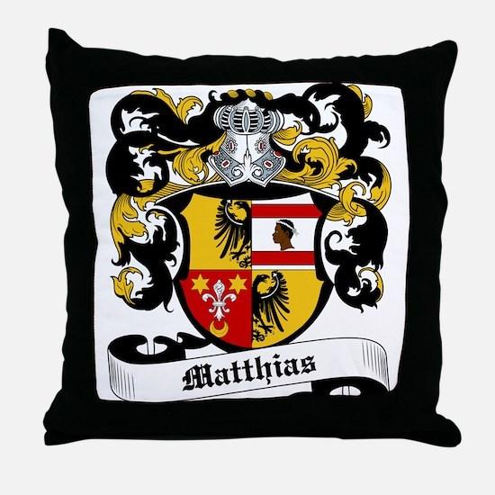 Matthias Coat of Arms Throw Pillow
