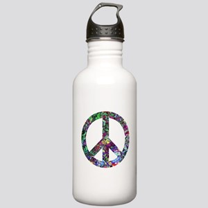 Colorful Peace Sign Stainless Water Bottle 1.0L