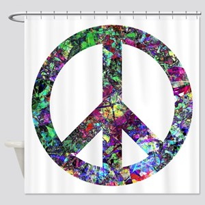 Colorful Peace Sign Shower Curtain