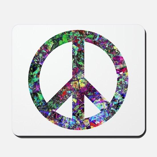 Colorful Peace Sign Mousepad