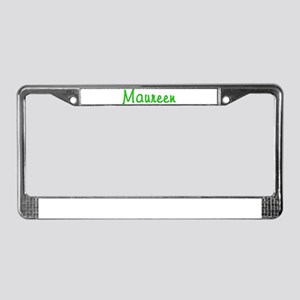 Maureen Glitter Gel License Plate Frame