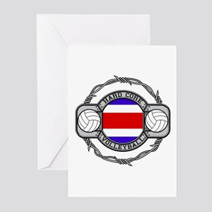 Costa Rica Volleyball Greeting Cards (Pk of 10