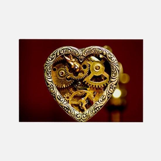 Clockwork Heart Rectangle Magnet (10 pack)