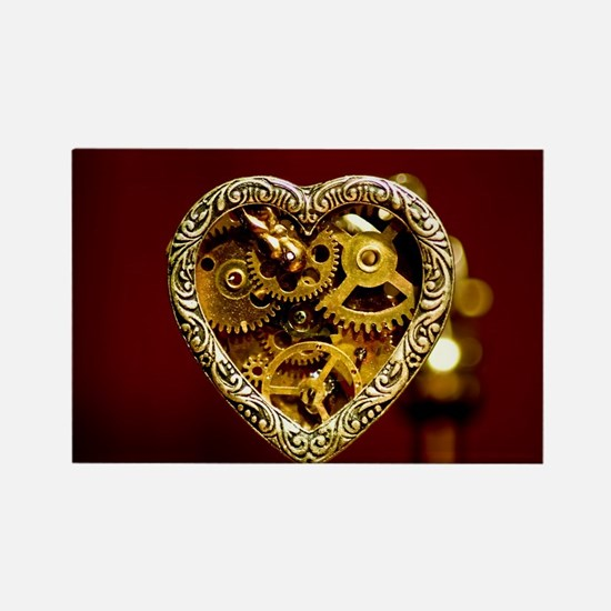 Clockwork Heart Rectangle Magnet
