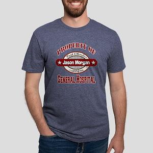 PROPERTY of GH Jason Morgan Mens Tri-blend T-Shirt