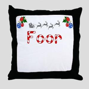 Foor, Christmas Throw Pillow