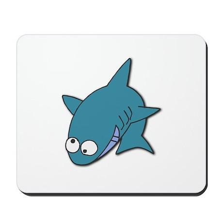 Goofy Blue Shark Mousepad