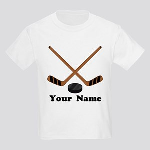 Personalized Hockey Kids Light T-Shirt