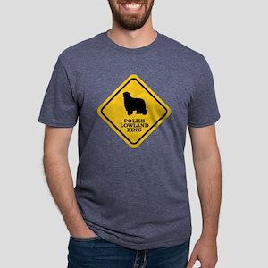 15-Polish-Lowland-Sheepdog. Mens Tri-blend T-Shirt