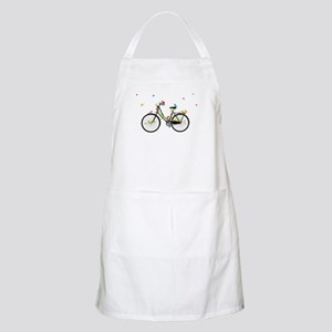 Old vintage bicycle with flowers and birds Apron