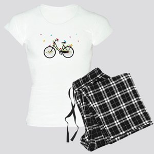 Old vintage bicycle with flowers and birds Women's